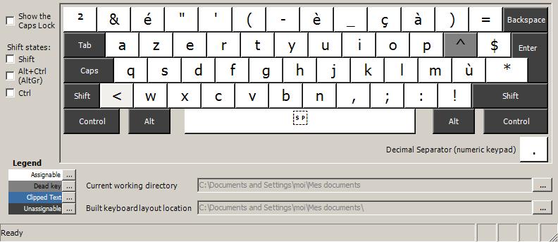 raccourci clavier espagnol